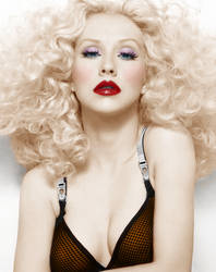 christina aguilera colorization by darkeyeddreamer