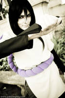 Orochimaru with a kunai by Yukilefay