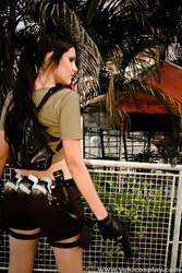 Lara Croft - Costume Back View by Yukilefay