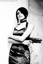 Resident Evil: Ada Wong BnW by Yukilefay