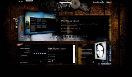 My Personal Website Skin02 by vampipe
