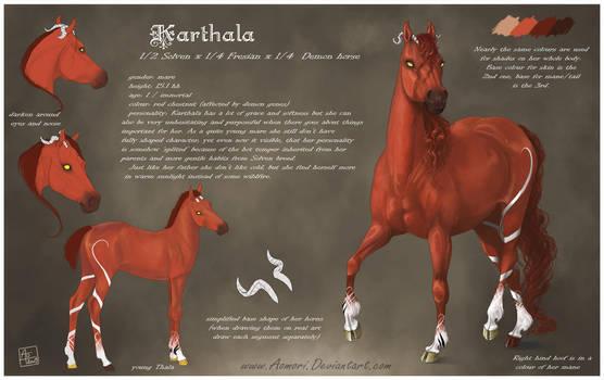Karthala reference sheet by AonikaArt