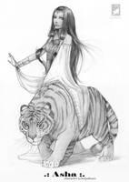 Brahmine Asha by AonikaArt