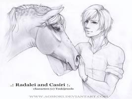 Radalei and Casiri by AonikaArt