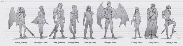 Chaos Edge - character concepts - UPDATED by AonikaArt