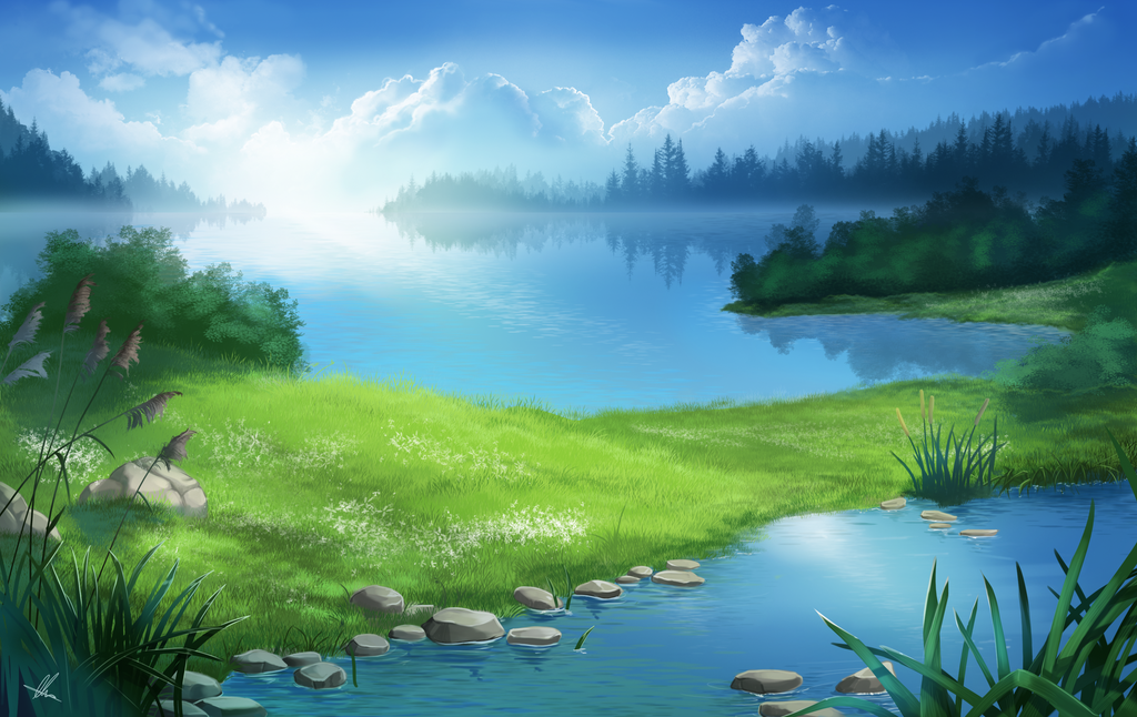 Valley of lakes by AonikaArt