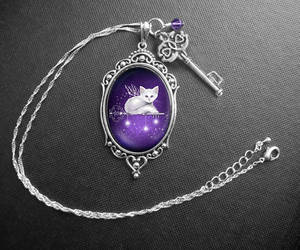 Key of Stars Cameo Necklace by MelissaDawn