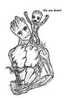 Groot Groot and Groot by kittycheetah14