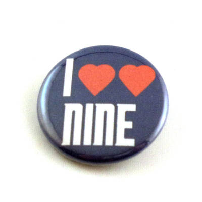 I Heart Heart Nine pinback button and magnet by LittleHouseCrafting