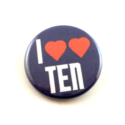 I Heart Heart Ten pinback button and magnet by LittleHouseCrafting