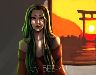 Sunset Princess by bee-yu