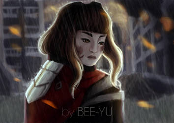 Raining in the ruins by bee-yu