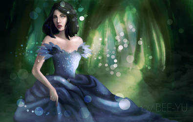 Dark haired princess by bee-yu