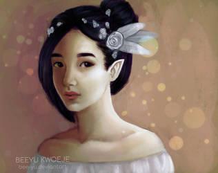 Portrait of cute elf by bee-yu
