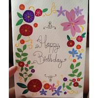 Gouache Birthday Card by teetania