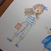 Blue Stripes by teetania