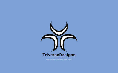 New Logo Floating In Blue by TriverseDesigns
