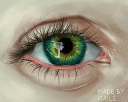Realistic eye by trishagaile