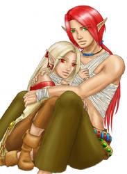 Faeron and Kiri by mesitka