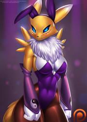 Bunny Suit Renamon by DoomXWolf