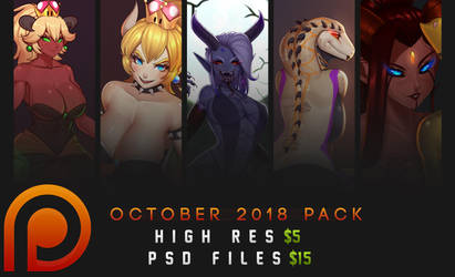 Patreon PSD Pack - October 2018 by DoomXWolf
