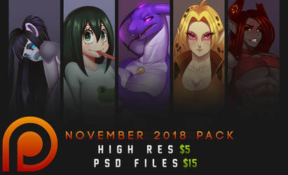 Patreon PSD Pack - November 2018 by DoomXWolf