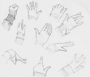 Hands sketches by SajoPhoe