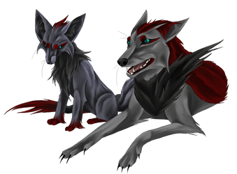 zorua and zoroark by Temerain