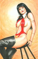 Julie Strain Vampirella 1 by Bugstomper86
