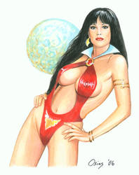 Julie Strain Vampirella 6 by Bugstomper86