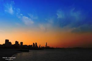 Kuwait sunset by Louayr