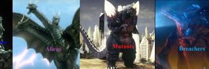 EG/Kaijuverse Kaiju Factions by Sideswipe217