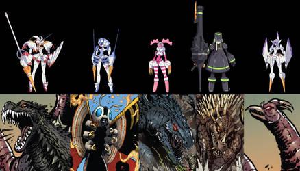Godzilla/DiTF: The Heroes by Sideswipe217