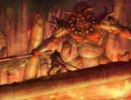Battle of fire mount by zhuoyu83