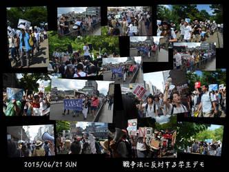 SEALDs Kansai Anti War Demo Collage by MorisatoMegumi