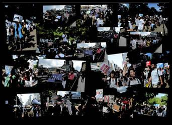 SEALDs Anti War Demo Popart Version by MorisatoMegumi