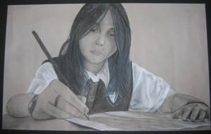 I Draw. _self portrait_ by BratBassist