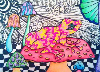 Hallucinogenic Frog by HallucinogeniusVMJP