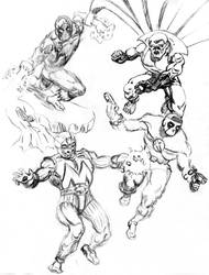 Sketches of Ironman villians by dondalier