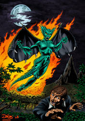 Dragon Fire By Don Davis (in color) by dondalier