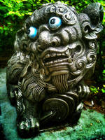Crazy looking Chinese Lion Statue by DrinkFromHumanSkulls