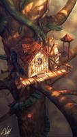 Treehouse by Panchusfenix