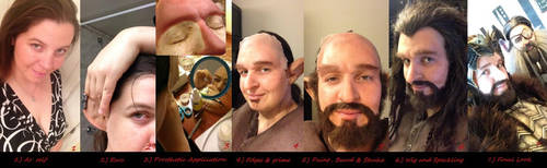Thorin Makeup Transformation by Jathoris