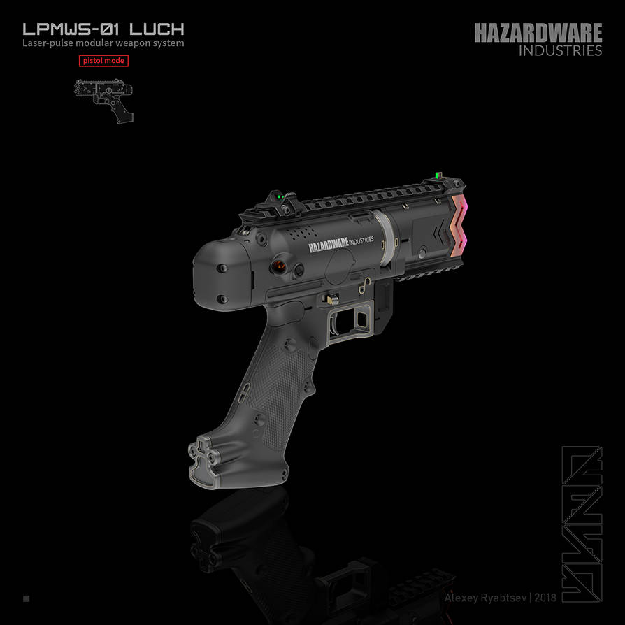 LUCH (pistol mode back) by HYDROGEARS