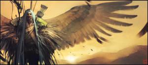 Crow man by GaudiBuendia