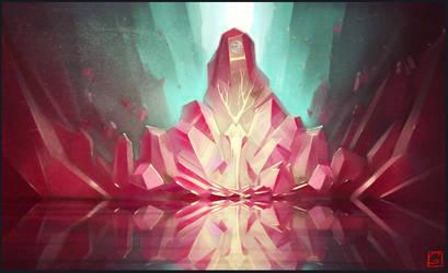 crystal throne by GaudiBuendia