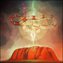 The Rainbow Serpent from the Australian mythology by GaudiBuendia