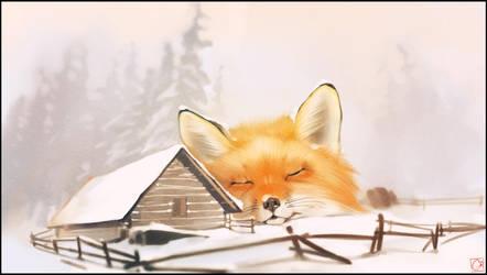 Winter fox by GaudiBuendia