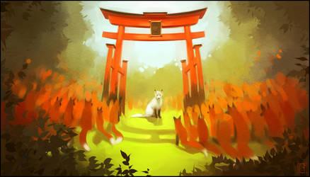 White fox by GaudiBuendia