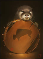 Otter by GaudiBuendia